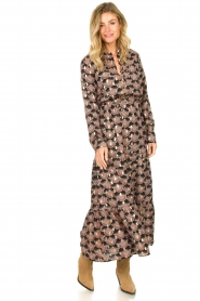 Sofie Schnoor |  Printed maxi dress Abbi | black  | Picture 2