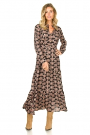 Sofie Schnoor |  Printed maxi dress Abbi | black  | Picture 3