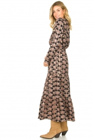 Sofie Schnoor |  Printed maxi dress Abbi | black  | Picture 4