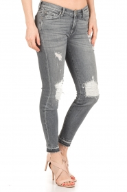 7 For All Mankind | Cropped skinny jeans Unro | grijs  | Afbeelding 4