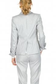 Atos Lombardini | Glinsterende blazer Argento | zilver  | Afbeelding 5