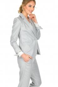 Atos Lombardini | Glinsterende blazer Argento | zilver  | Afbeelding 4