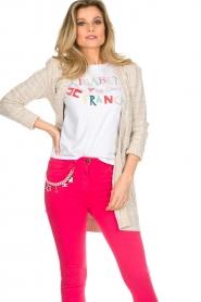 ELISABETTA FRANCHI | Gebreid vest met glitters Michelle | naturel  | Afbeelding 2