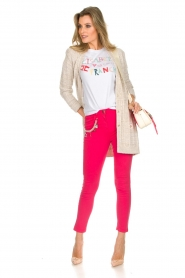 ELISABETTA FRANCHI | Gebreid vest met glitters Michelle | naturel  | Afbeelding 3