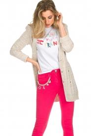 ELISABETTA FRANCHI | Gebreid vest met glitters Michelle | naturel  | Afbeelding 4