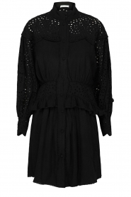Sofie Schnoor |  Embroidery dress Larissa | black  | Picture 1