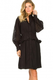Sofie Schnoor |  Embroidery dress Larissa | black  | Picture 5