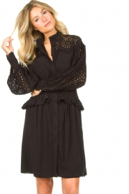 Sofie Schnoor |  Embroidery dress Larissa | black  | Picture 2