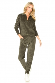Lune Active    Soft sweatpants Teddy   green    Picture 3