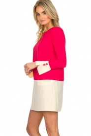 ELISABETTA FRANCHI |  Two-coloured dress Brianna | pink  | Picture 4