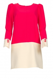 ELISABETTA FRANCHI |  Two-coloured dress Brianna | pink  | Picture 1