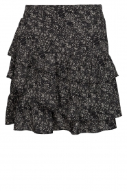 Printed ruffle skirt Madonna | black