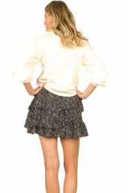 Sofie Schnoor |  Printed ruffle skirt Madonna | black  | Picture 6
