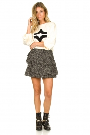 Sofie Schnoor |  Printed ruffle skirt Madonna | black  | Picture 3