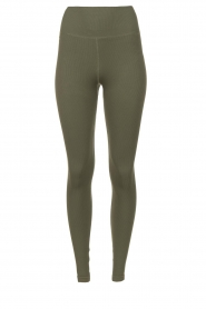 Lune Active |  Ribbed sport leggings Luna | green  | Picture 1