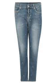 7 For All Mankind | Cropped boyfriend jeans Josefina | blauw  | Afbeelding 1