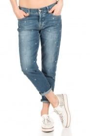 7 For All Mankind | Cropped boyfriend jeans Josefina | blauw  | Afbeelding 2
