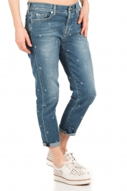 7 For All Mankind | Cropped boyfriend jeans Josefina | blauw  | Afbeelding 4