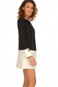 ELISABETTA FRANCHI |  Two-coloured dress Brianna | black  | Picture 4