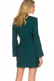 ELISABETTA FRANCHI |  Dress with waist belt Ottanio | green  | Picture 6