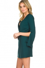 ELISABETTA FRANCHI |  Dress with waist belt Ottanio | green  | Picture 5