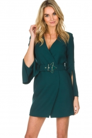 ELISABETTA FRANCHI |  Dress with waist belt Ottanio | green  | Picture 2