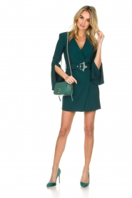 ELISABETTA FRANCHI |  Dress with waist belt Ottanio | green  | Picture 3