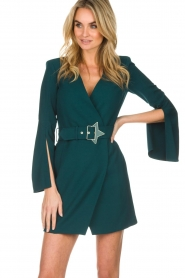 ELISABETTA FRANCHI |  Dress with waist belt Ottanio | green  | Picture 4