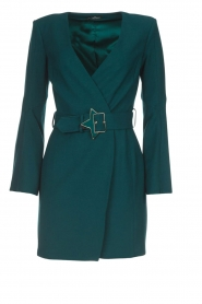 ELISABETTA FRANCHI |  Dress with waist belt Ottanio | green  | Picture 1