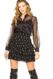 Sofie Schnoor |  Ruffle skirt Madonna | black  | Picture 2