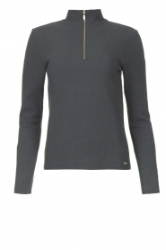 Lune Active    Ribbed turtle neck sweater Moon   blauw    Picture 1