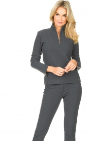 Lune Active    Ribbed turtle neck sweater Moon   blauw    Picture 2
