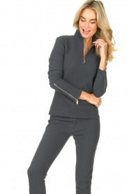 Lune Active    Ribbed turtle neck sweater Moon   blauw    Picture 4