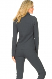 Lune Active    Ribbed turtle neck sweater Moon   blauw    Picture 6