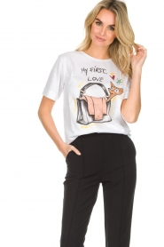 ELISABETTA FRANCHI |  T-shirt with print Guesse | white  | Picture 2