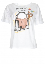 ELISABETTA FRANCHI |  T-shirt with print Guesse | white  | Picture 1