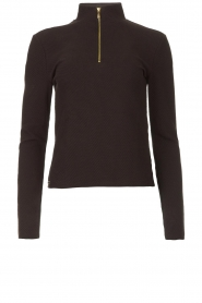 Lune Active |  Ribbed turtle neck sweater Moon | black  | Picture 1