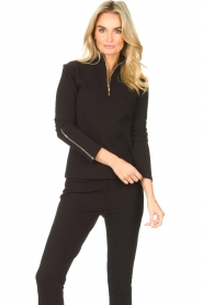 Lune Active    Ribbed turtle neck sweater Moon   black    Picture 4