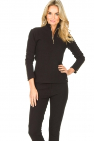 Lune Active    Ribbed turtle neck sweater Moon   black    Picture 2