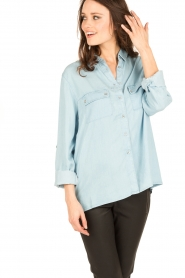 7 For All Mankind |  Blouse Uniform | blue  | Picture 2