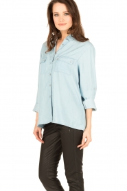 7 For All Mankind |  Blouse Uniform | blue  | Picture 4