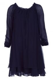 Atos Lombardini | Off-shoulder jurk Florianna | Blauw  | Afbeelding 1