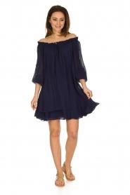 Atos Lombardini | Off-shoulder jurk Florianna | Blauw  | Afbeelding 3