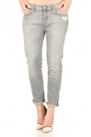 7 For All Mankind | Cropped boyfriend jeans Josefina | grijs  | Afbeelding 2