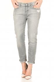 7 For All Mankind | Cropped boyfriend jeans Josefina | grijs  | Afbeelding 2