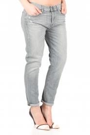 7 For All Mankind | Cropped boyfriend jeans Josefina | grijs  | Afbeelding 4