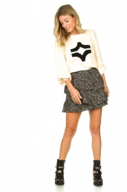 Sofie Schnoor |  Sweater with print Edith | natural  | Picture 3