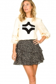 Sofie Schnoor |  Sweater with print Edith | natural  | Picture 2