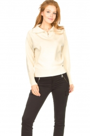 Lune Active |  Zip-up sweater Olly | natural  | Picture 4