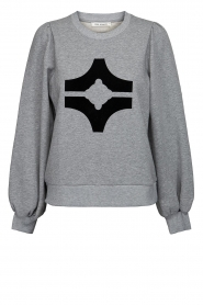 Sofie Schnoor |  Sweater with print Edith | grey  | Picture 1